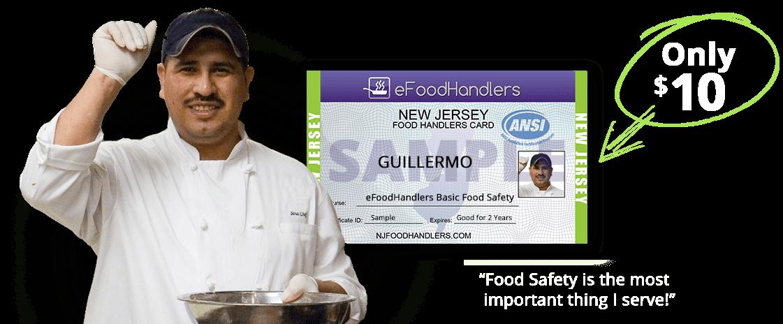 NEW JERSEY Food Handlers Card | eFoodhandlers® | $10